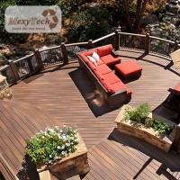 High Performance Composite Decking Used In Outdoor Gardens